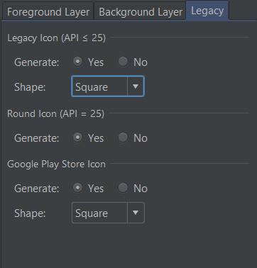 Legacy tab