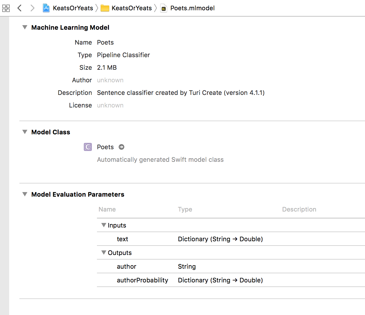Natural Language Processing on iOS with Turi Create