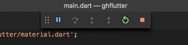 The VS Code toolbar