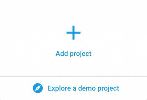 Add project button