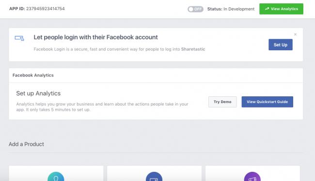 Setup Facebook Login