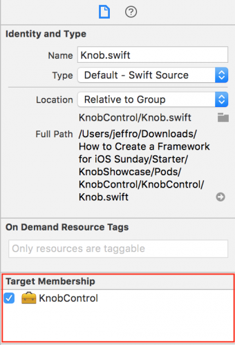 Target Membership  - target membership 340x500 - Creating a Framework for iOS
