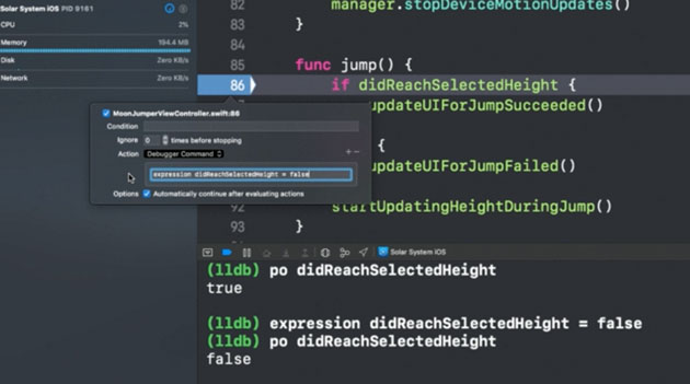 Advanced Debugging with Xcode and LLDB WWDC 2018