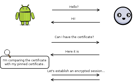 HTTPSURLCONNECTION SSL CERTIFICATE EXAMPLE - Securing
