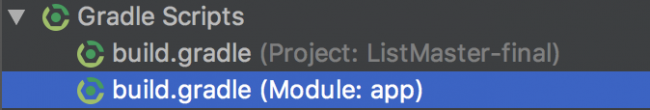 build.gradle file