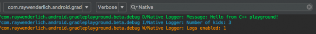 Native Logs in Logcat
