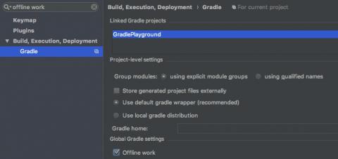 Gradle offline mode