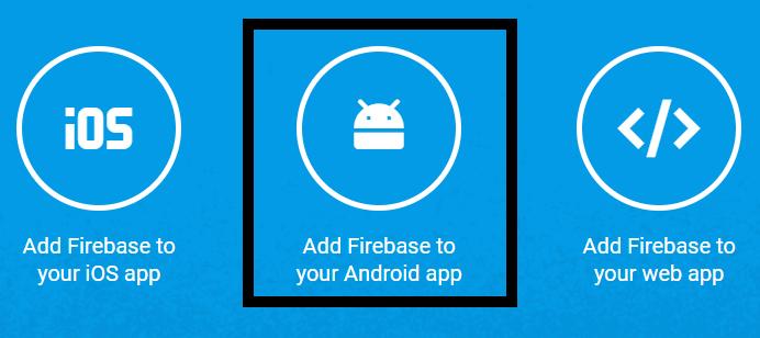 add firebase app
