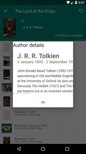 Author details dialog