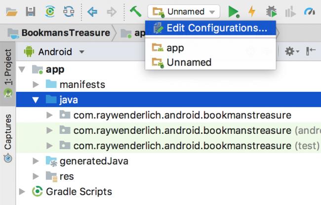 Edit run configurations