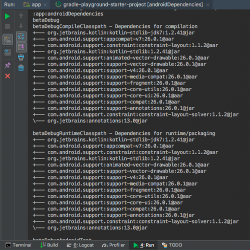 output in run window