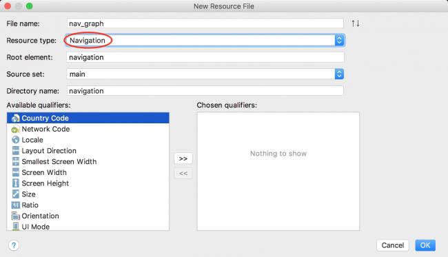 Navigation Resource file