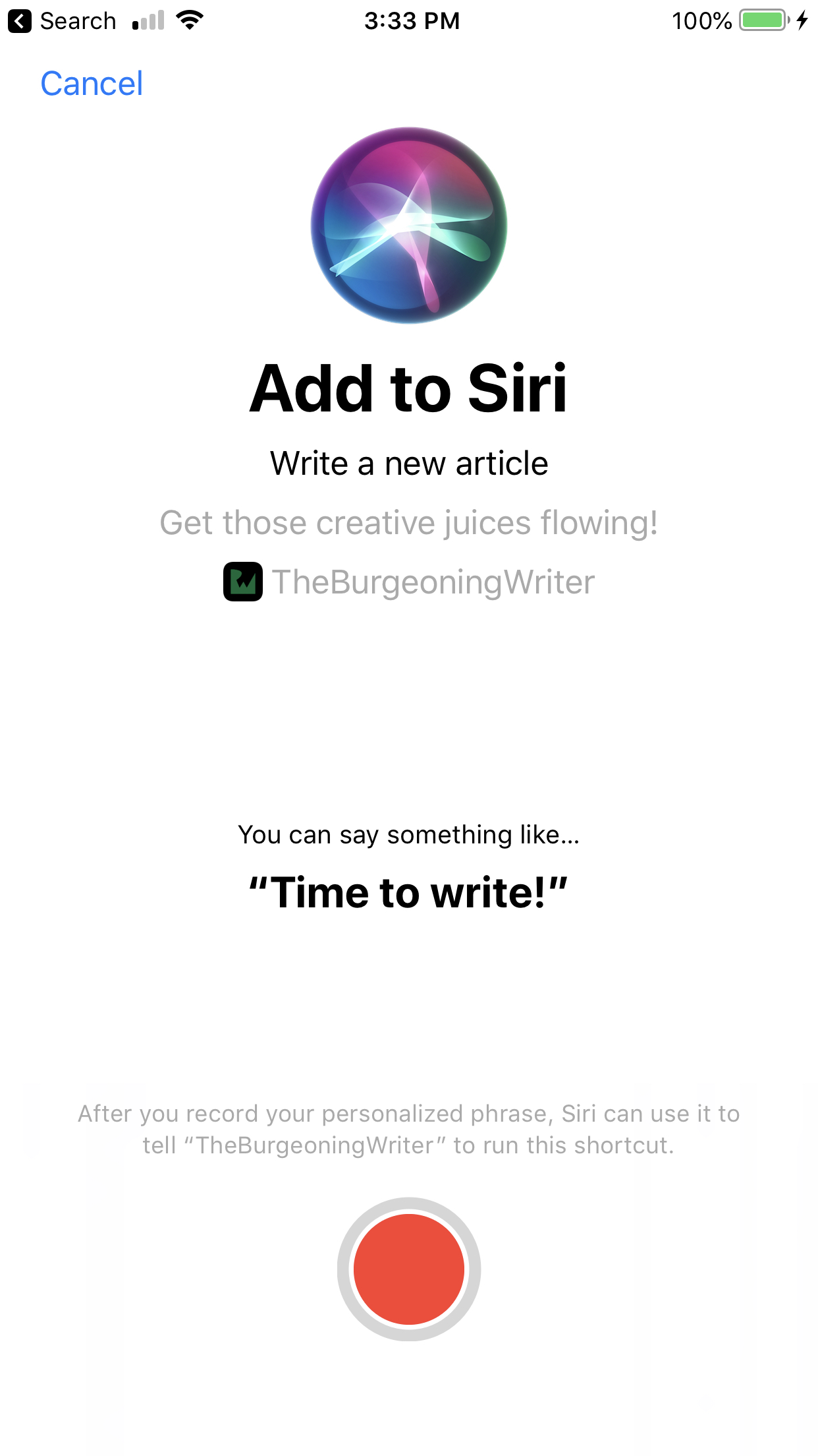 - AddToSiri - Siri Shortcuts Tutorial in iOS 12