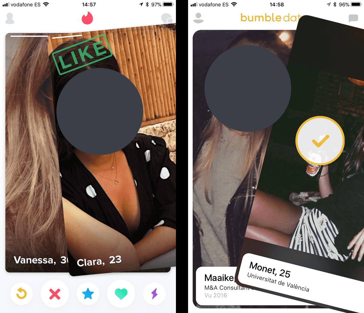 Tinder v Bumble Design Pattern