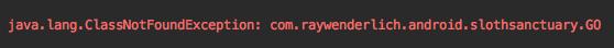 Crash error message