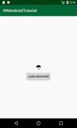 Screenshot of MVP sample app