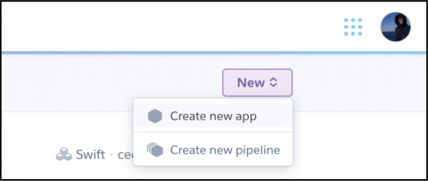 Heroku new app button