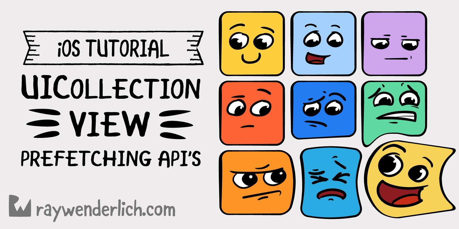 UICollectionView Tutorial: Prefetching APIs | raywenderlich com