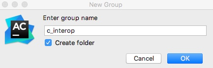 AppCode new group name