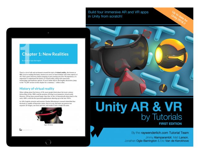 Announcing Unity AR & VR by Tutorials! | Full Software