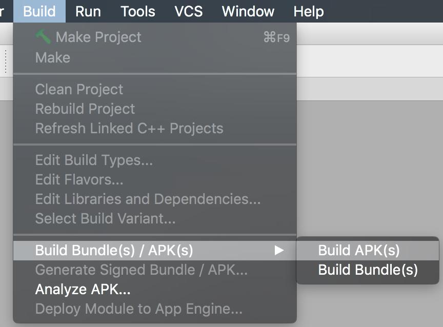 build apk