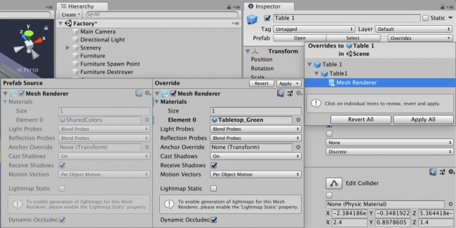 How to use the New Unity Prefab Workflow | raywenderlich com