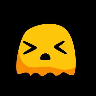 Monstre jaune ennuyé aux yeux fermés