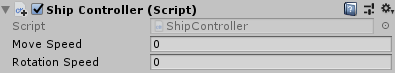 Ship controller component