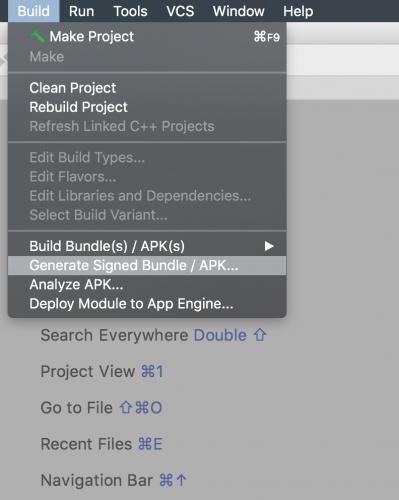 Generating signed app bundle