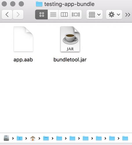 testing app bundle directory