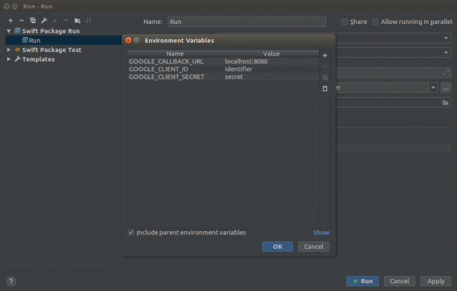 - Environment Variables 1 650x414 - Using CLion as an IDE for Server Side Swift Apps on Linux