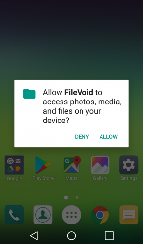 Allow file access permission