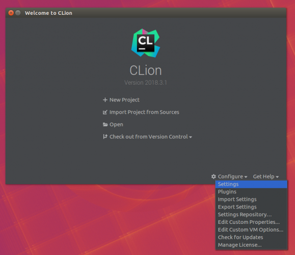 - Open Settings 579x500 - Using CLion as an IDE for Server Side Swift Apps on Linux