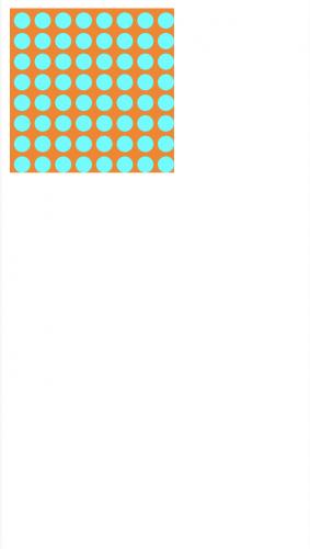 Cyan circle pattern on orange background