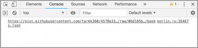 API URL in Dev Console