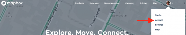 Mapbox Choose Account