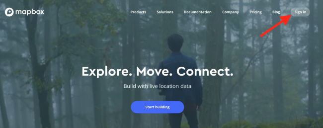Sign Up for Mapbox