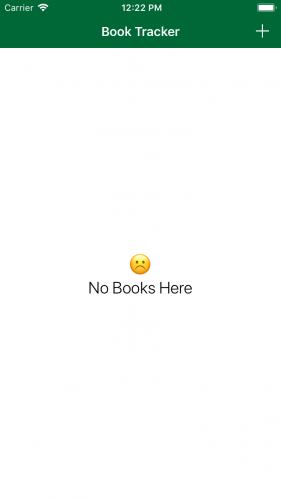 IActivityViewController tutorial empty books screen