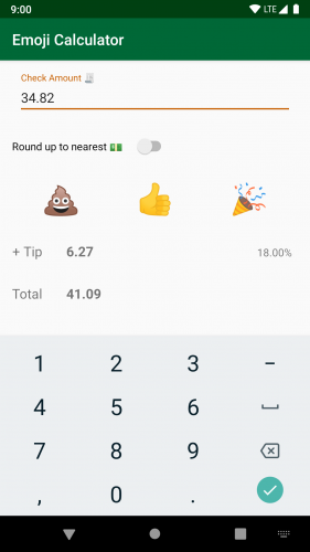 Screenshot of Emoji Calculator app