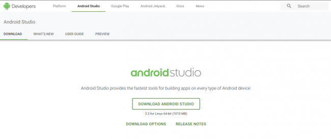Android developer site
