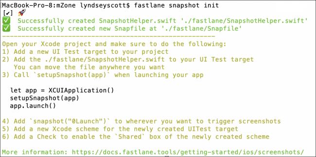 output snapshot init