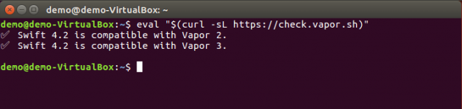 Check Vapor on Linux
