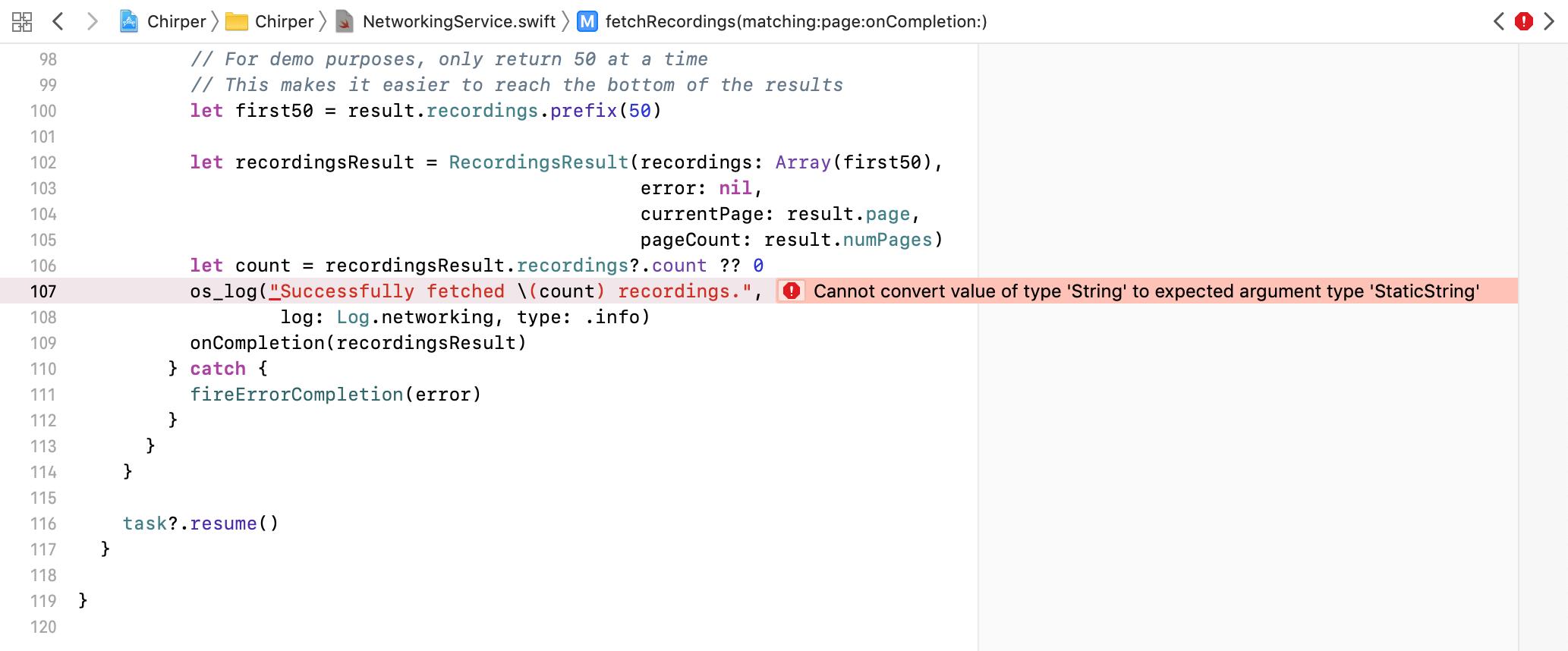 Error in Xcode