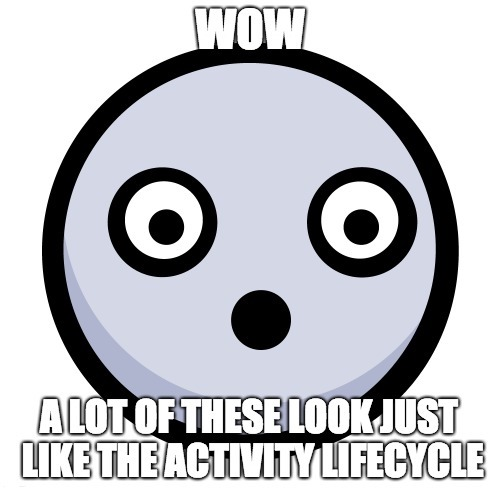 Wow! A lot of these look just like the Activity lifecycle