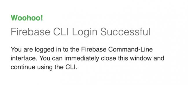 Firebase Cli Login Successful