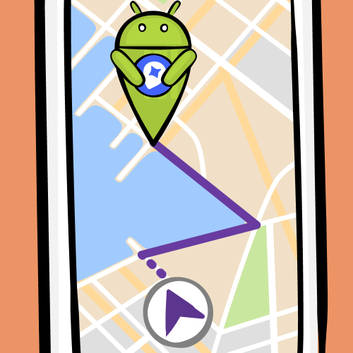 Android on a map