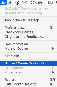 Sign in to Docker