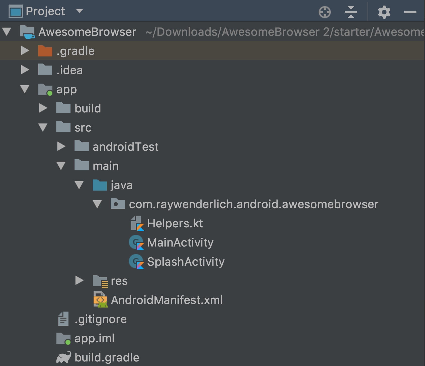 AwesomeBrowser project structure