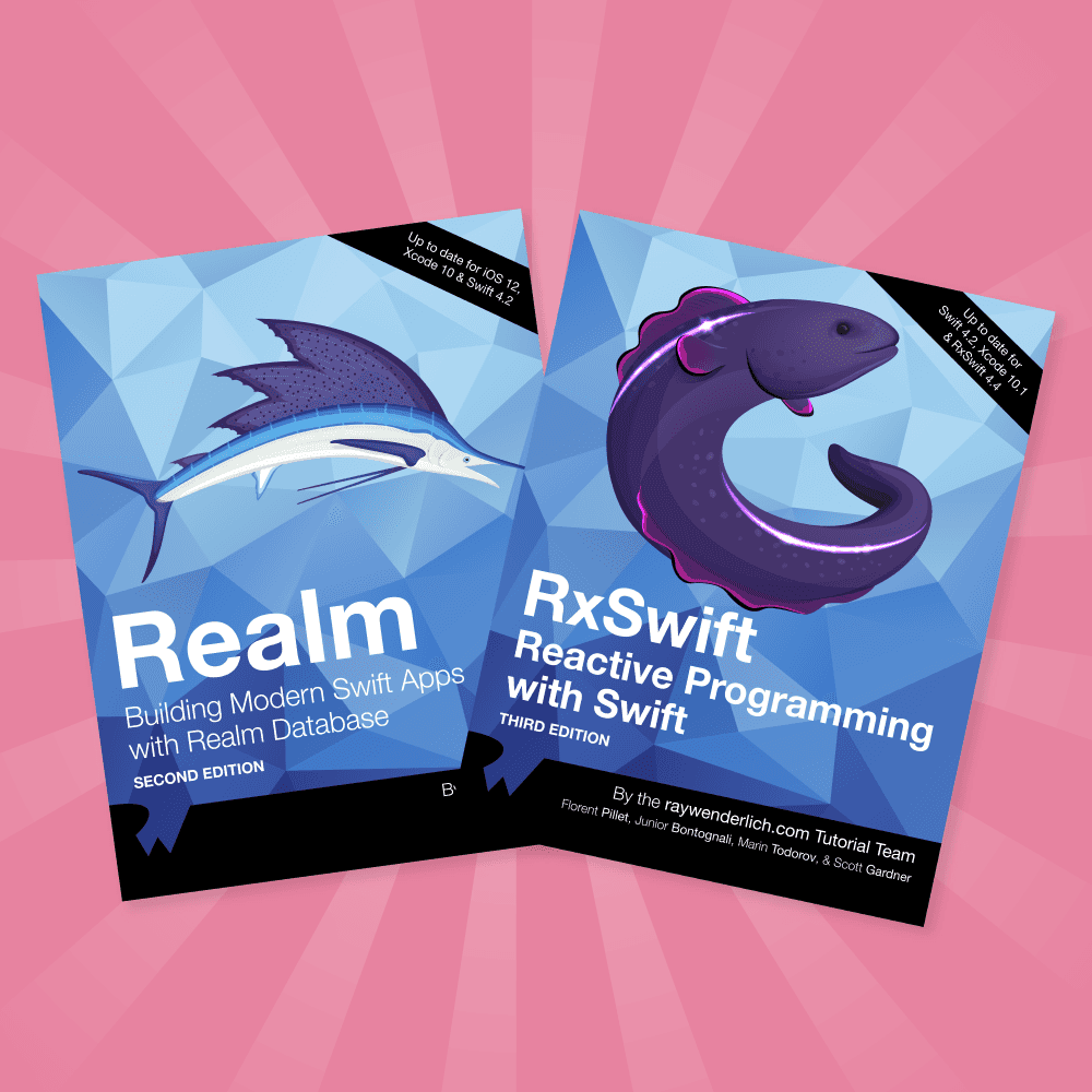 Two Books Updated for Swift 4 2 and iOS 12: Realm and RxSwift