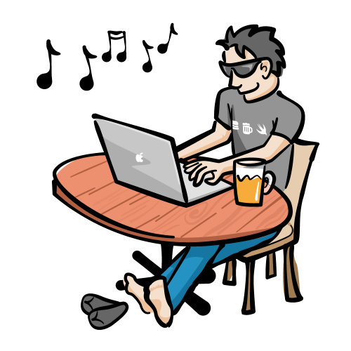 Man practicing protocol-oriented programming at a table
